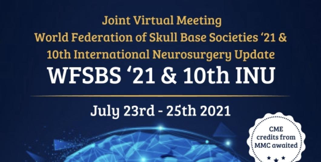 Invited Speaker to World Federation of Skull Base Societies Virtual Meeting-1